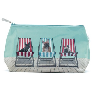 Deckchair dogs washbag DC4W